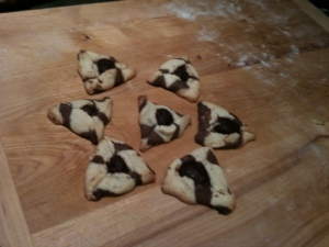 my delectable striped hamantashen